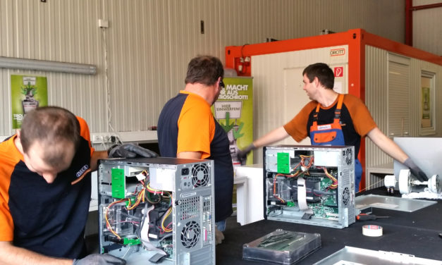 EAK Pressetour zu Recyclingunternehmen