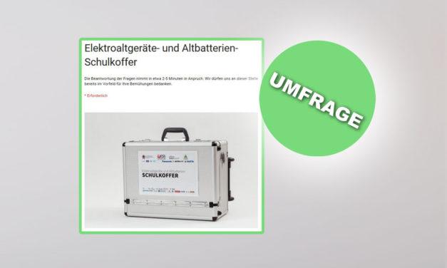 OnLine-Umfrage Elektroaltgeräte- und Altbatterien Schulkoffer