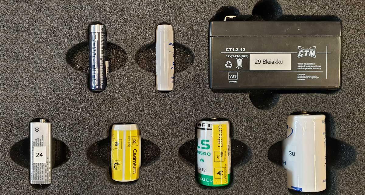 Gängige Fehler bei der separaten Sammlung von Lithium-Batterien/ Akkus